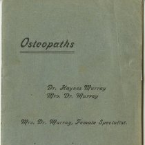 Image of Pamphlet of Dr. and Mrs. Dr. Murray