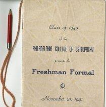 Image of PCO Freshman Formal program, 1941