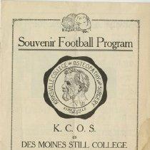 Image of Souvenir Football Program, KCOS