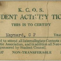 Image of Student Activity Ticket