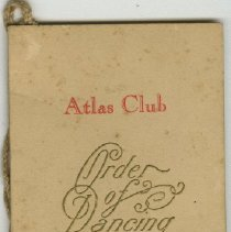 Image of Atlas Club Dance Card