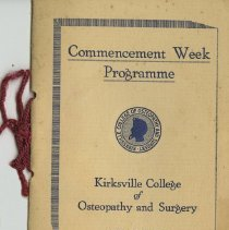 Image of Commencement Week Program, 1929