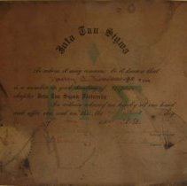 Image of Iota Tau Sigma Certificate