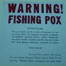 Image of Fishing Pox Warning