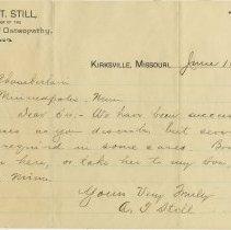 Image of Letter to Floyd Chamberlain