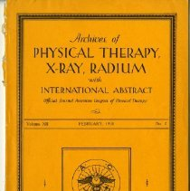 Image of 2008.05 - Archives of Physical Therapy, X-Ray, Radium