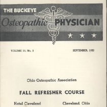 Image of 2008.79 - The Buckeye Osteopathic Physician, Vol. 19, No. 5