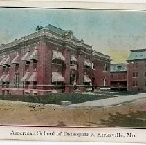 Image of 2009.02 - Postcard of American School of Osteopathy, Kirksville, MO