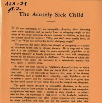 Image of 2009.49 - The Acutely Sick Child