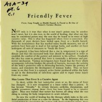 Image of 2009.49 - Friendly Fever