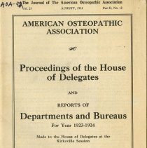 Image of 2009.49 - Proceedings of the House of Delegates and Reports of Departments and Bureaus for Year 1923-1924.