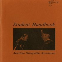 Image of 2009.49 - American Osteopathic Association Student Handbook
