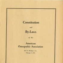 Image of AOA Constitution and By-Laws