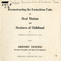 Image of 2009.49 - Reconstructing the Eustachian Tube in Deaf Mutism and Deafness of Childhood/ Auditory Training