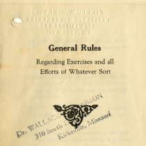 Image of 2009.49 - General Rules Regarding Exercises and All Efforts of Whatever Sort