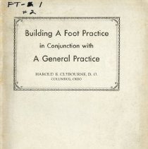 Image of 2009.49 - Building a Foot Practice in Conjunction With a General Practice