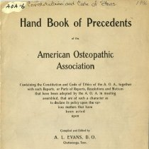 Image of 2009.49 - Handbook of Precedents of the American Osteopathic Association