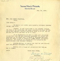 Image of 2009.49 - Letter to Mrs. Hamilton