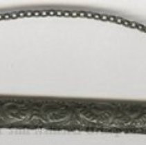 Image of 2009.57 - Black thermometer case with black chain and safety pin clasp