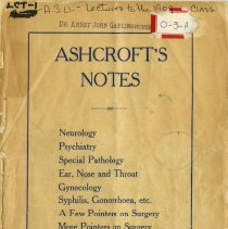 Image of 2010.02 - Ashcroft's Notes