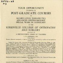 Image of 2010.02 - Post-Graduate Course in Manipulative Therapeutics