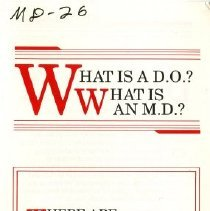 Image of 2010.02 - What is a D.O.? What is an M.D.?