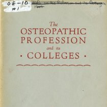 Image of 2010.02 - The Osteopathic Profession and its Colleges