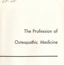Image of 2010.02 - The Profession of Osteopathic Medicine