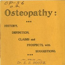 Image of 2010.02 - Osteopathy: History, Definition, Claims, and Prospects, with Suggestions