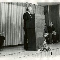 Image of 2010.02 - James Stookey, Charles Moore, and F.M. Walter during Founder's Day speech