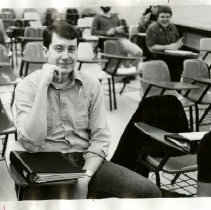 Image of 2010.02 - Student seated at desk in class