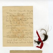 Image of 2010.09 - Note and Lock of Andrew Taylor Still's Hair