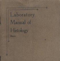Image of 2010.23 - Laboratory Manual of Histology