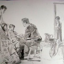 """Image of 2010.37 - concept drawing of the Dr Still painting """"Prelim Study 4"""""""