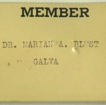 Image of 1997.41 - Nametag of Marian A. Blust