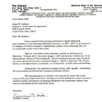 Image of 2009.13 - Letter to James E. Jackson from Norman A. Geske