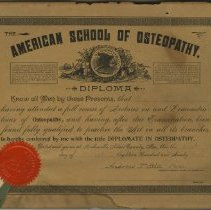 Image of Diploma of Harry Mix Still