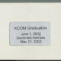Image of KCOM Graduation tape, VHS