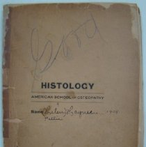 Image of Histology Lab Notebook Used by Nellie Haynes