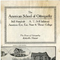Image of 2009.13 - The American School of Osteopathy, Still Hospitals, A.T. Still Infirmary, Journal
