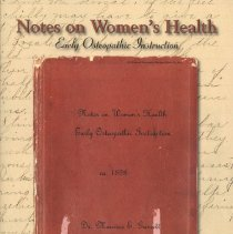 Image of 2010.50 - Notes on Women's Health Early Osteopathic Instruction