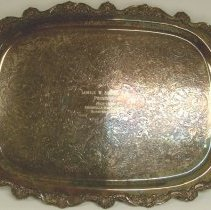 Image of 2010.52 - Serving tray, floral and shell finish
