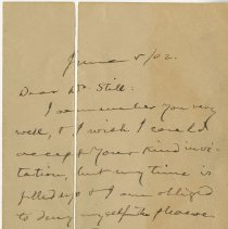 Image of Letter from Samuel Clemens to Charles Still