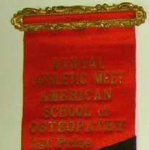 Image of 1998.16 - First Place Ribbon for Track