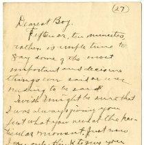 "Image of 2010.69 - Letter to ""Dearest Boy"""