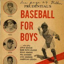 Image of 2001.36 - Prudential's Baseball for Boys