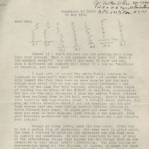 Image of 2011.01 - Letter to Rollin E. Becker, D.O. concerning life during the War