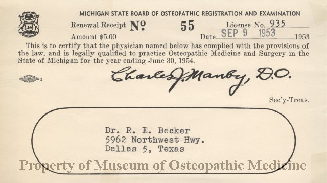 2011 01 - Michigan State Board of Osteopathic Registration