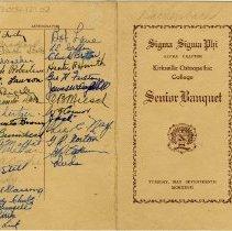 Image of Sigma Sigma Phi Senior Banquet Program