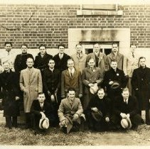 Image of 2005.65 - Photograph of Group of Men Outside Building